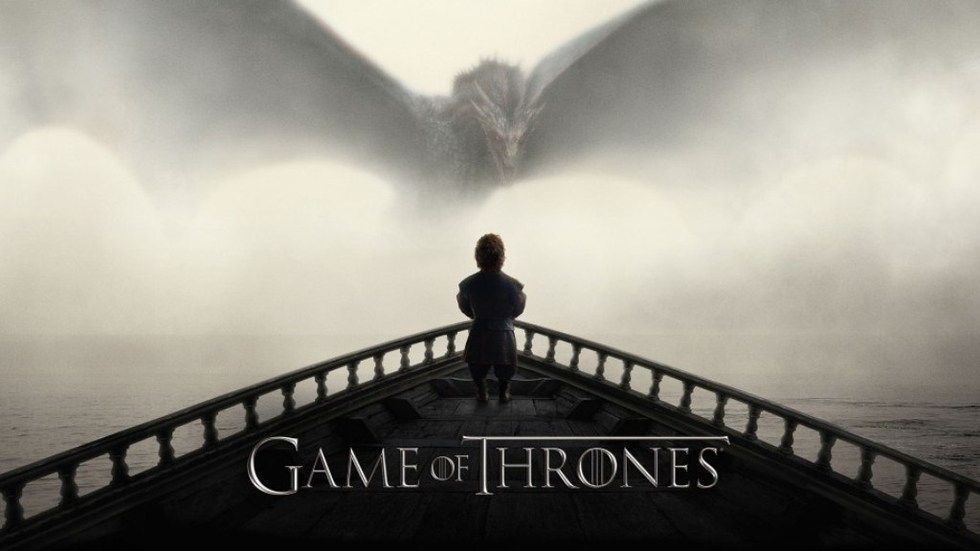 Tyrion Lannister and a dragon on GoT S5 poster