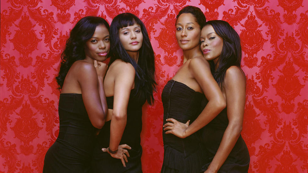 The cast of Girlfriends on Sony.
