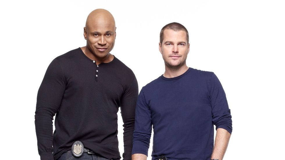 LL Cool J and Chris O'Donnell of NCIS LA.