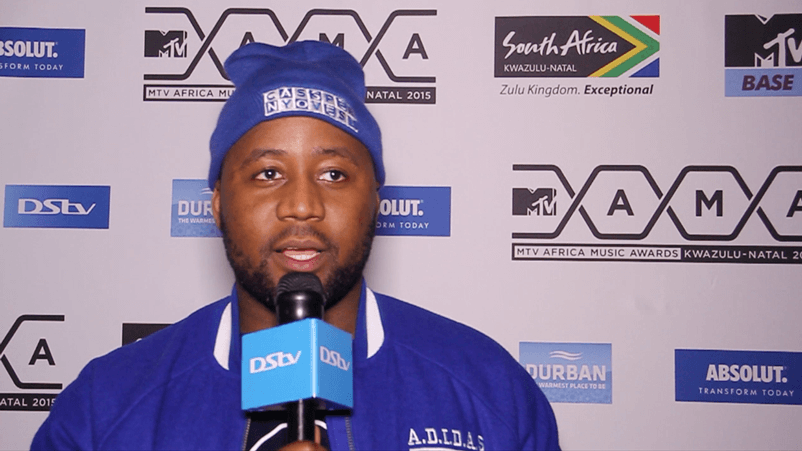 Cassper Nyovest speaks to DStv at the MTV MAMA nominations party.