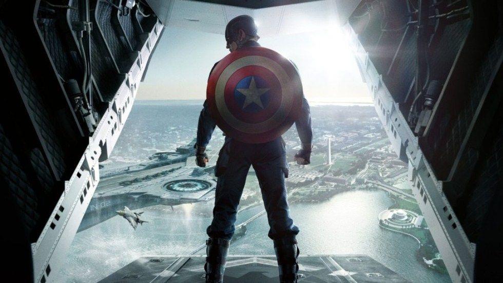 Chris Evans as Steve Rogers, aka Captain America, in the superhero franchise Captain America.
