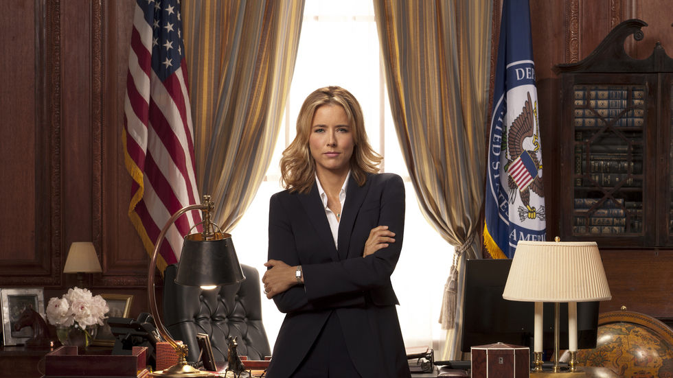 Tea Leoni as Elizabeth McCord in Madam Secretary.
