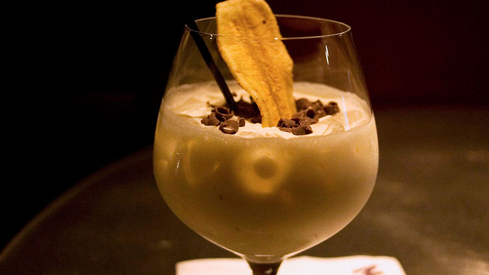 A Getty image of a banana-infused cocktail.