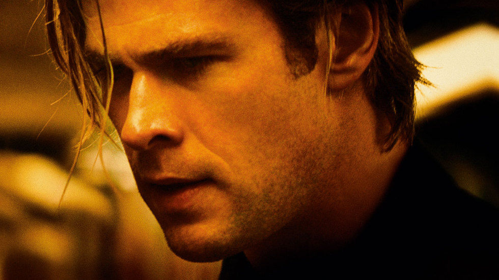 Chris Hemsworth in Blackhat.