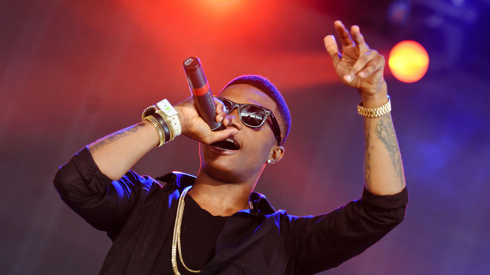 Wizkid performs at the Yahoo! Wireless Festival.