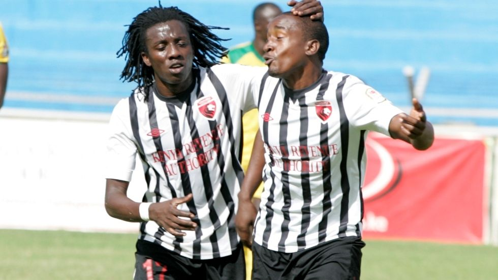 Allan Katerega and Ndege Obadiah of Ushuru FC.