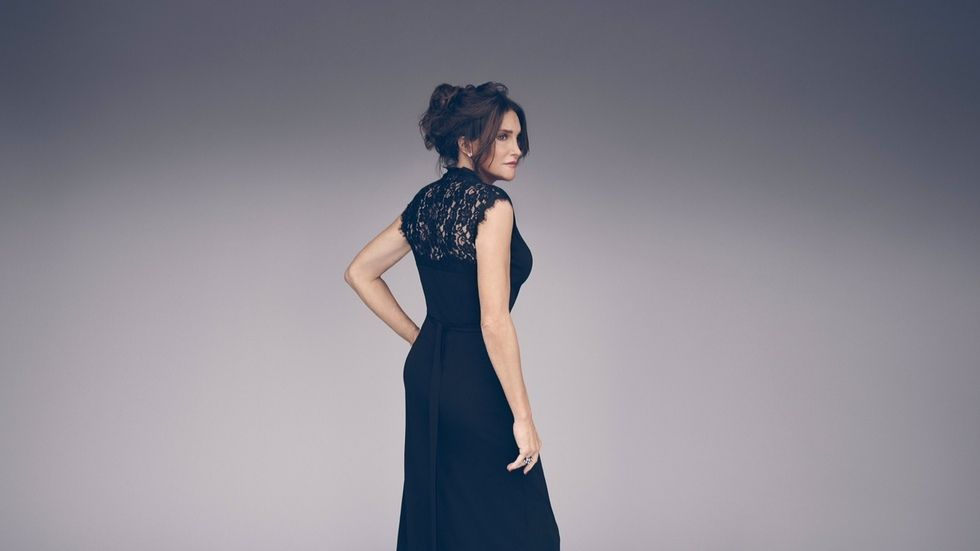 Caitlyn Jenner wears a black dress and strikes a pose in I Am Cait photo shoot.