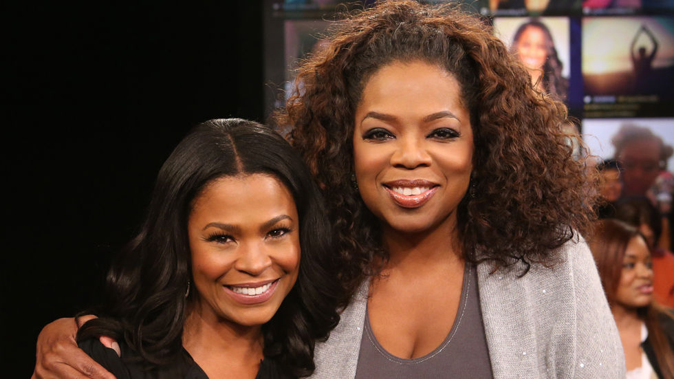 Oprah and Nia Long during the single moms Lifeclass.