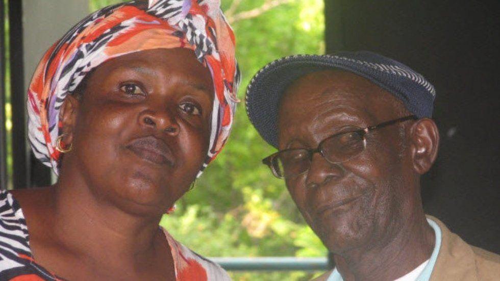 Vitimbi actors Mama Kayai and Mzee Ojwang.