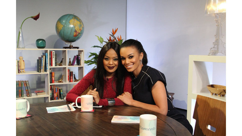 Lerato Kganyago and Pearl Thusi who host the South African spin-off for Moments with Mo titled Moments.