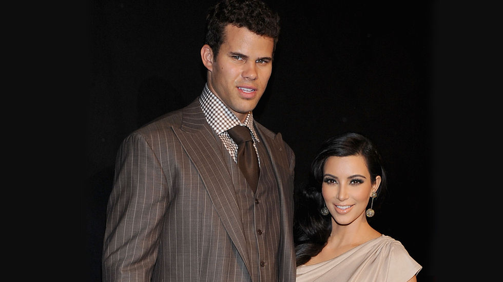 Reality star Kim Kardashian with her ex-husband, Kris Humphries.