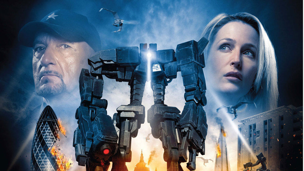 The poster for Robot Overlords.