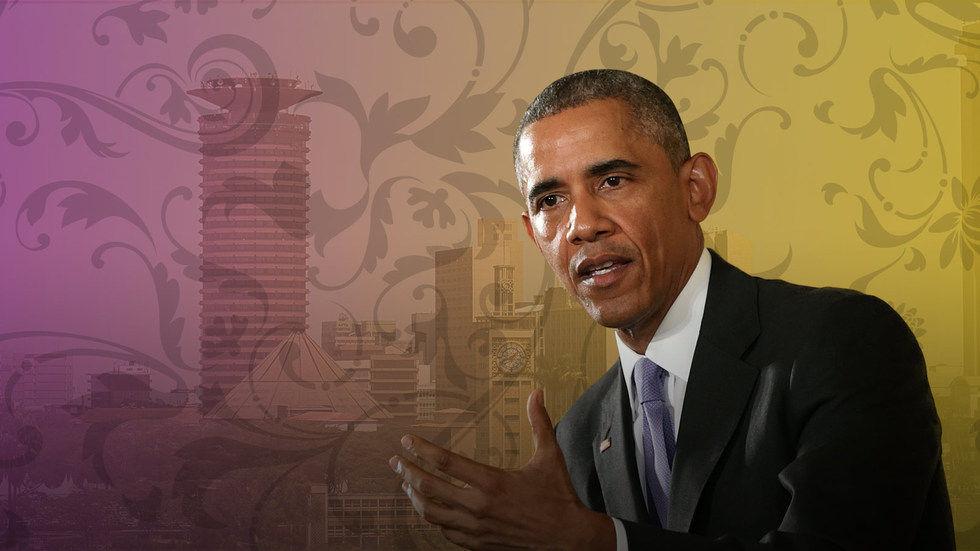 DStv Billboard Obama in Kenya - Kenya hosts Obama