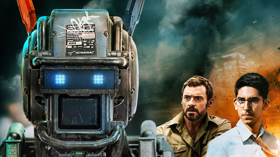 A cropped image of the poster for Chappie.
