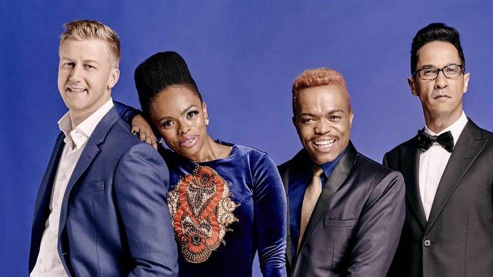 Idols SA judges Gareth Cliff, Unathi Msengana, Somizi Mhlongo and Randall Abrahams.