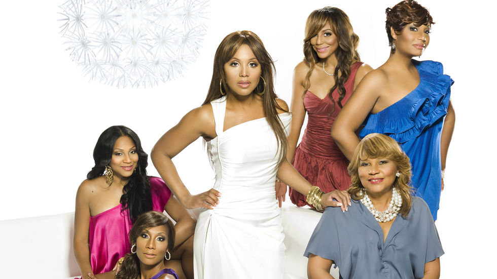 Braxton sisters Toni, Traci, Towanda, Trina and Tamar with their mother Evelyn.