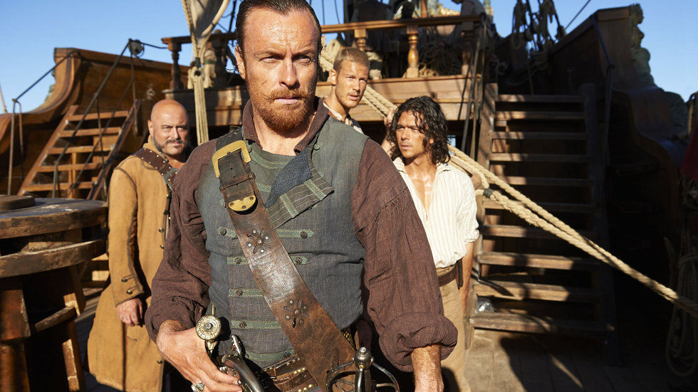 An image from History's Black Sails, available on DStv Catch Up.