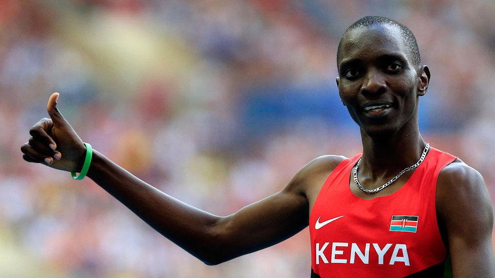 Kenyan middle distance runner Asbel Kiprop