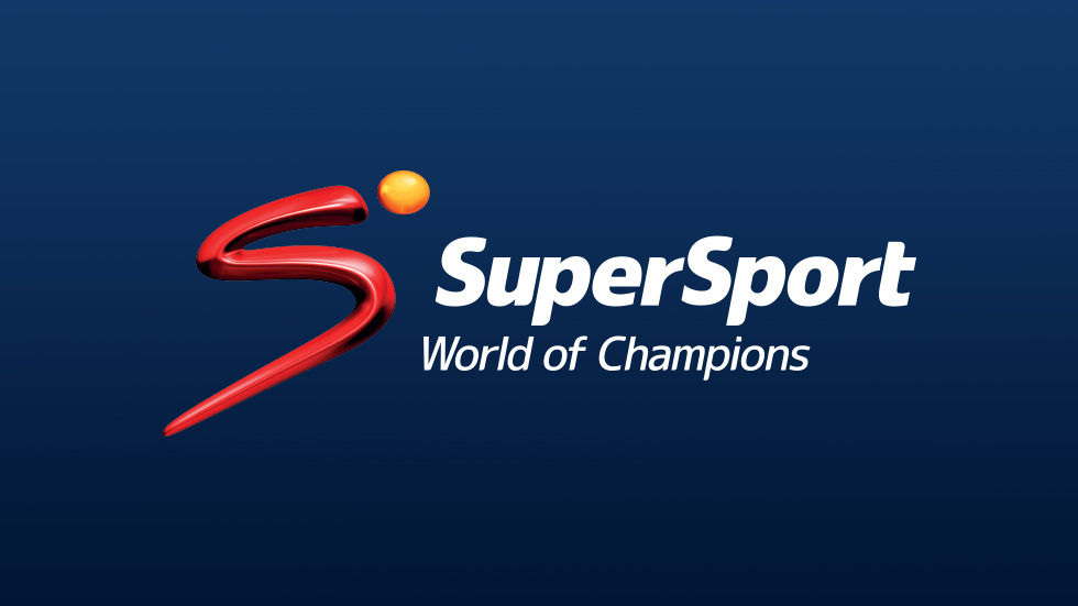 SuperSport Logo on blue background.