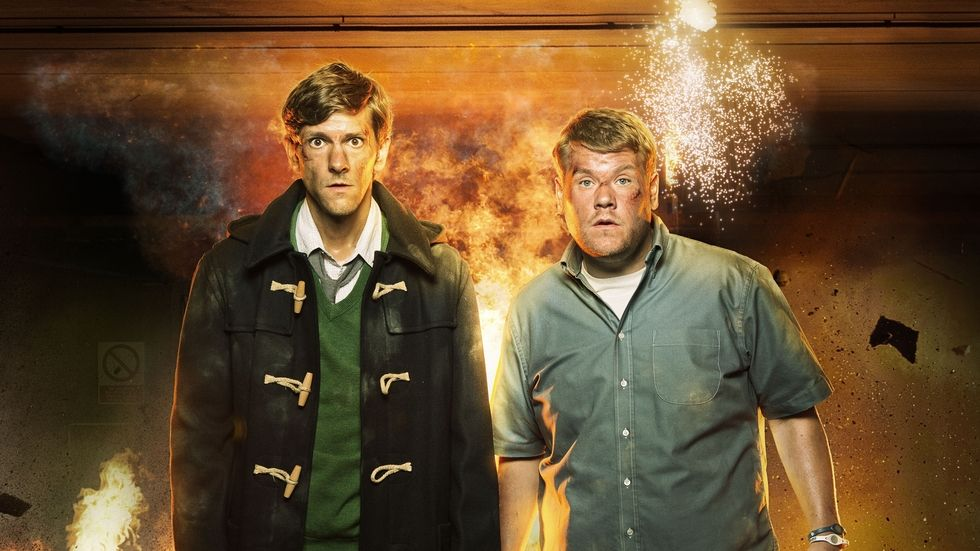 James Corden and Mathew Baynton from the BBC Brit show The Wrong Mans.