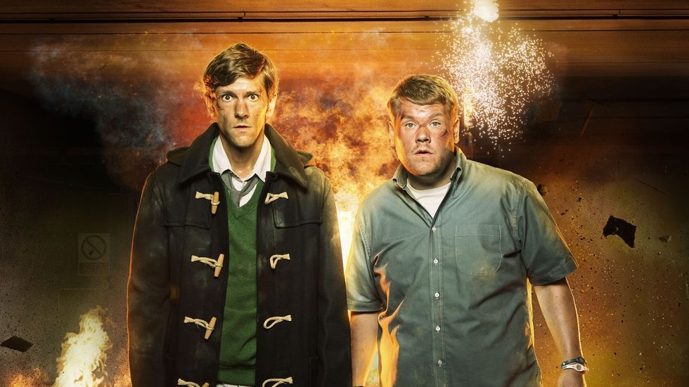 An image of James Corden and Mathew Baynton from the BBC Brit show The Wrong Mans.
