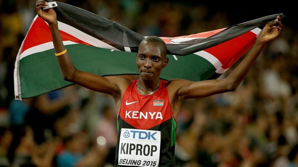 Kenyan gold medalist Asbel Kiprop