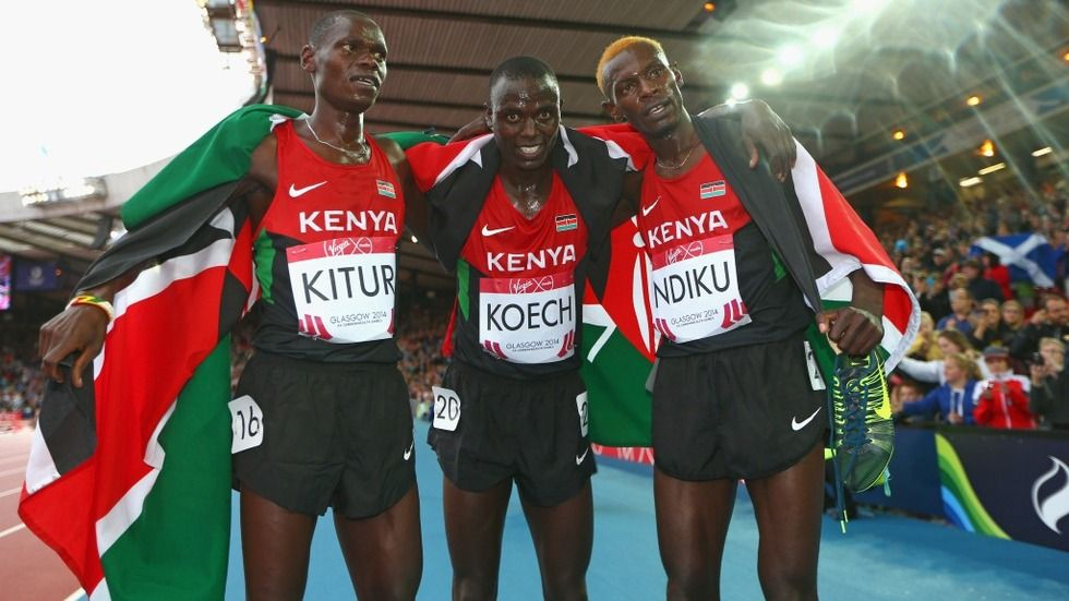 Kenyan athletes at the 20th Commonwealth Games