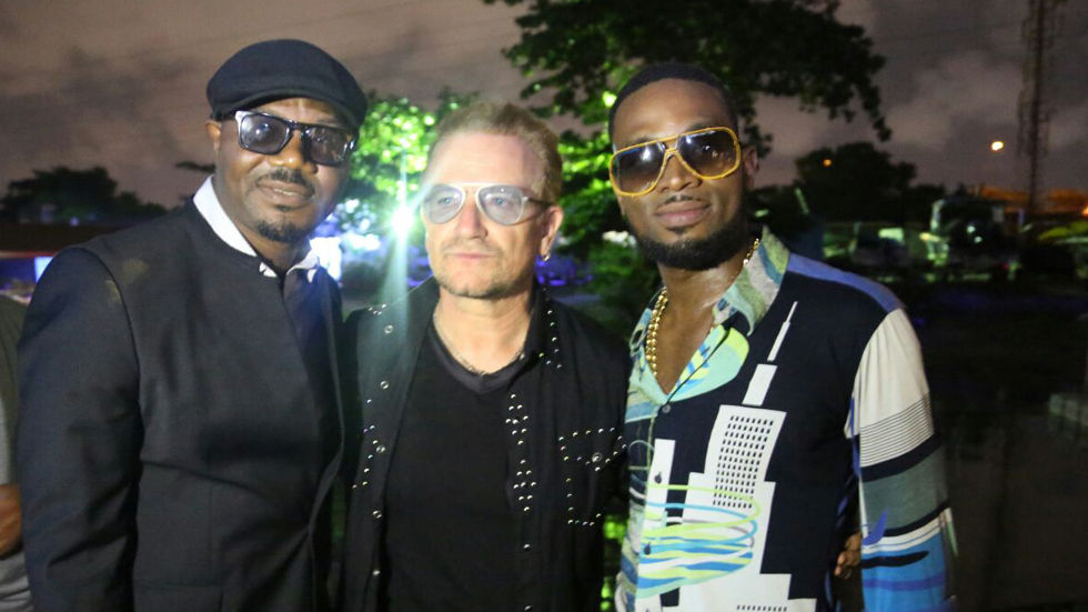 Nigerian superstar D'Banj and U2's Bono