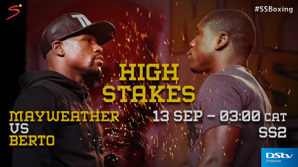 Floyd Mayweather vs Andre Berto on SuperSport