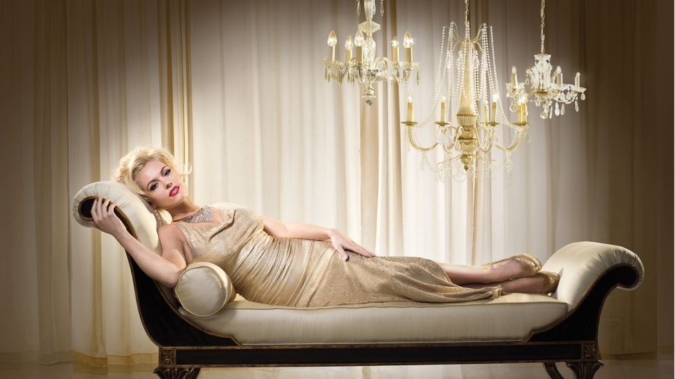 An image of Agnes Bruckner as Anna Nicole Smith in the Lifetime Original Movie.