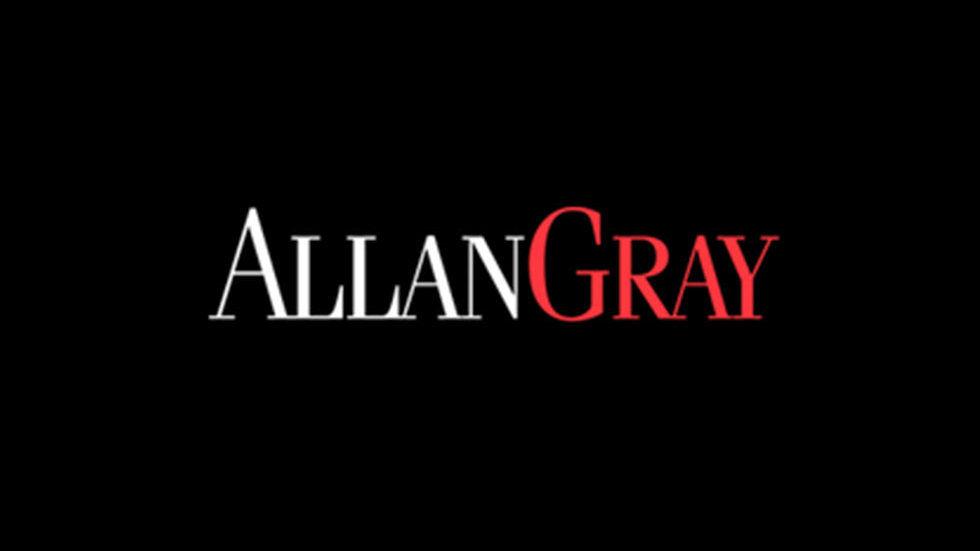 Allan Gray logo on black.