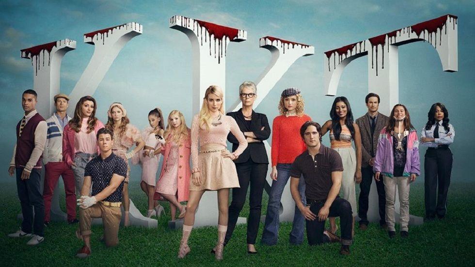 The cast of Scream Queens S1.