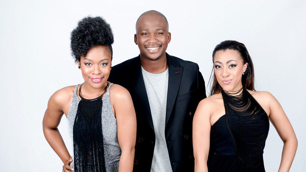 Nomzamo Mbatha, Mbali Nkosi and Anga Makubalo who present All Access Mzansi.