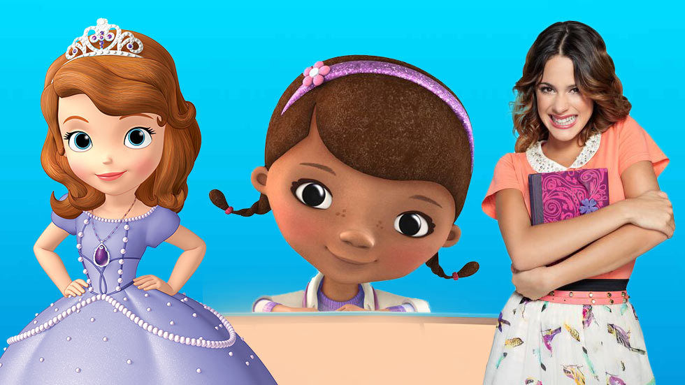 An image of Doc McStuffins, Violetta and Sofia the First.