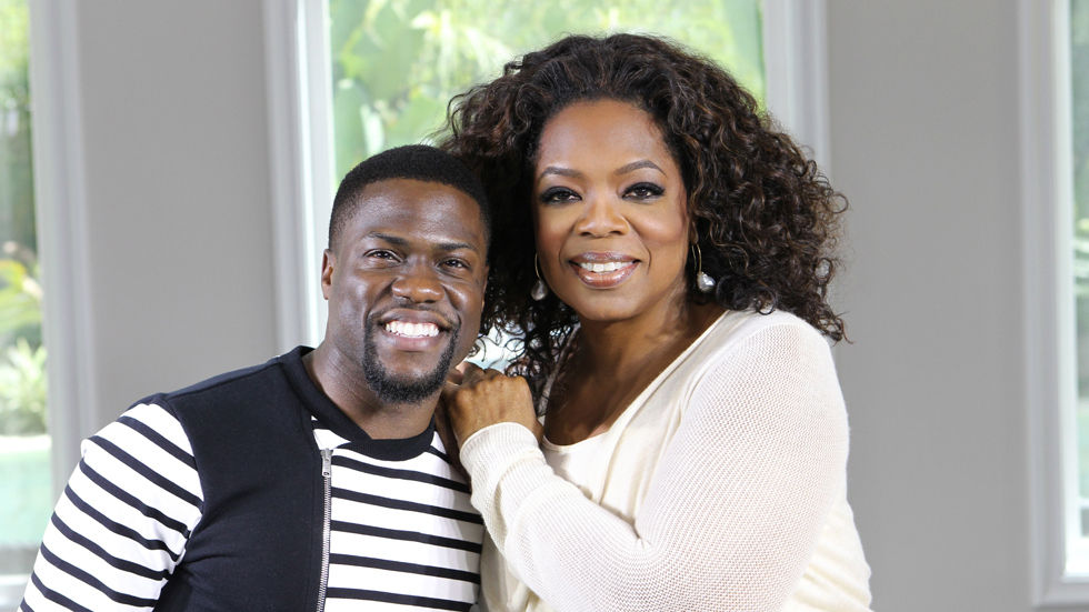 An image of Kevin Hart and Oprah Winfrey.