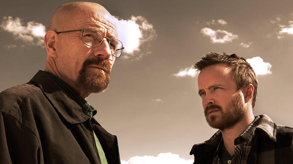Bryan Cranston (Walter White, Heisenberg) and Aaron Paul (Jessie)