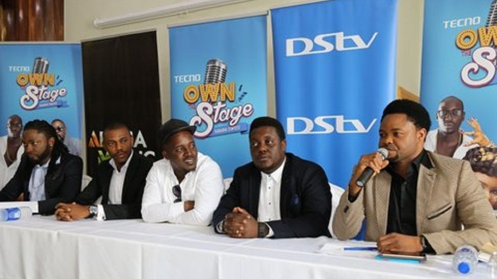 The panel at the launch of Tecno Own the Stage.