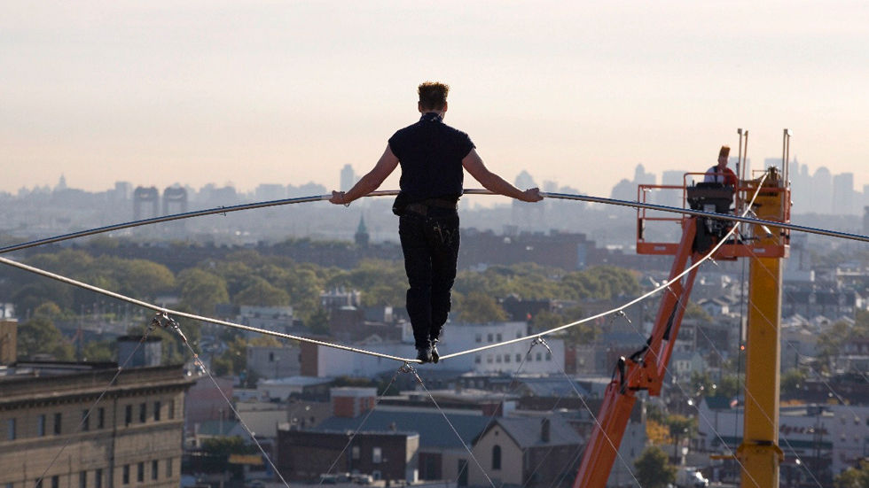 Nik Wallenda in a scene from Life on a Wire