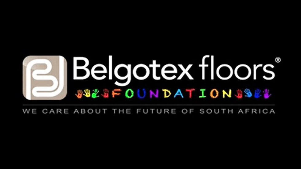Black background - Belgotex Floors Foundation logo.