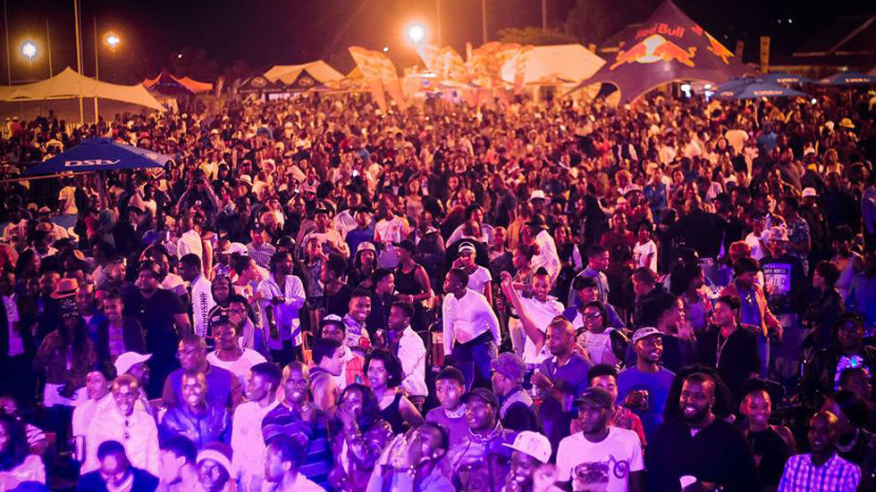 An image of the crowd at the DStv iRock Limpopo Festival.