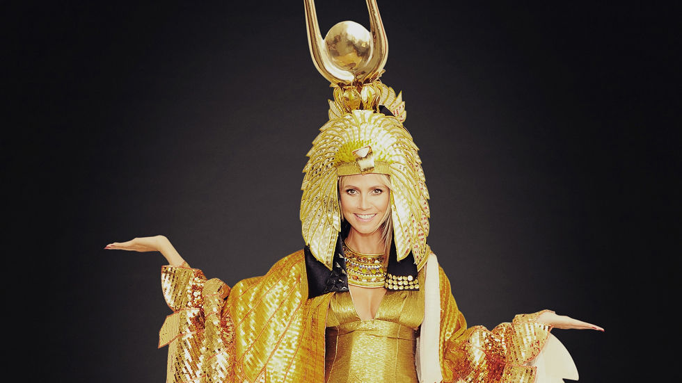 Heidi Klum, dress up, Halloween, Costume, Egyptian