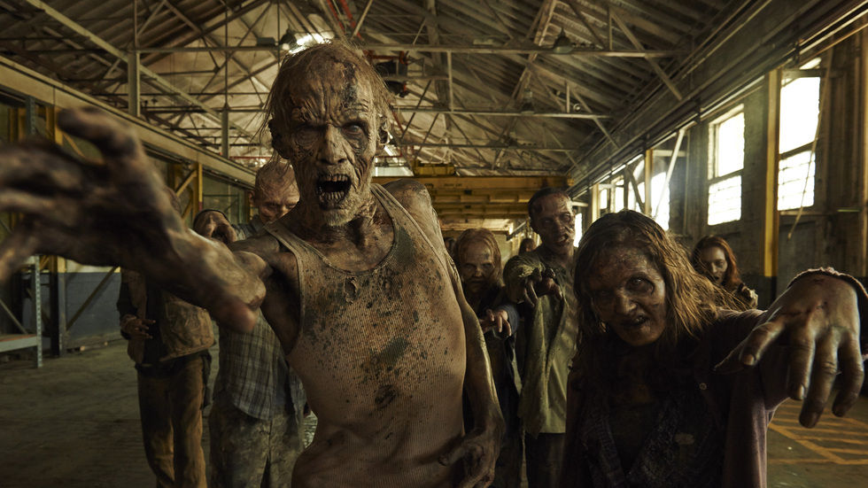 The walkers from The Walking Dead.