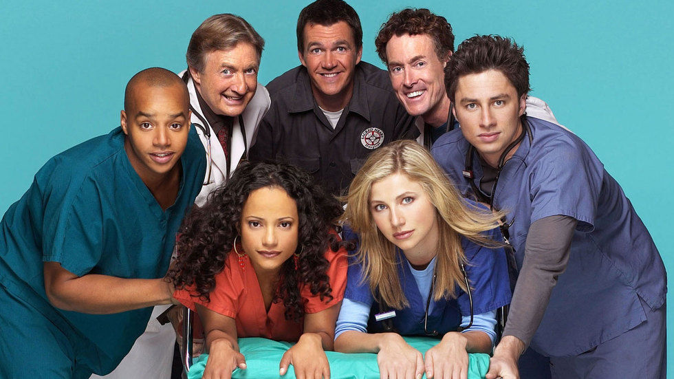 The cast of Scrubs.