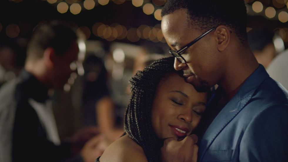 Nomzamo Mbatha and Maps Maponyane in Tell Me Sweet Something.