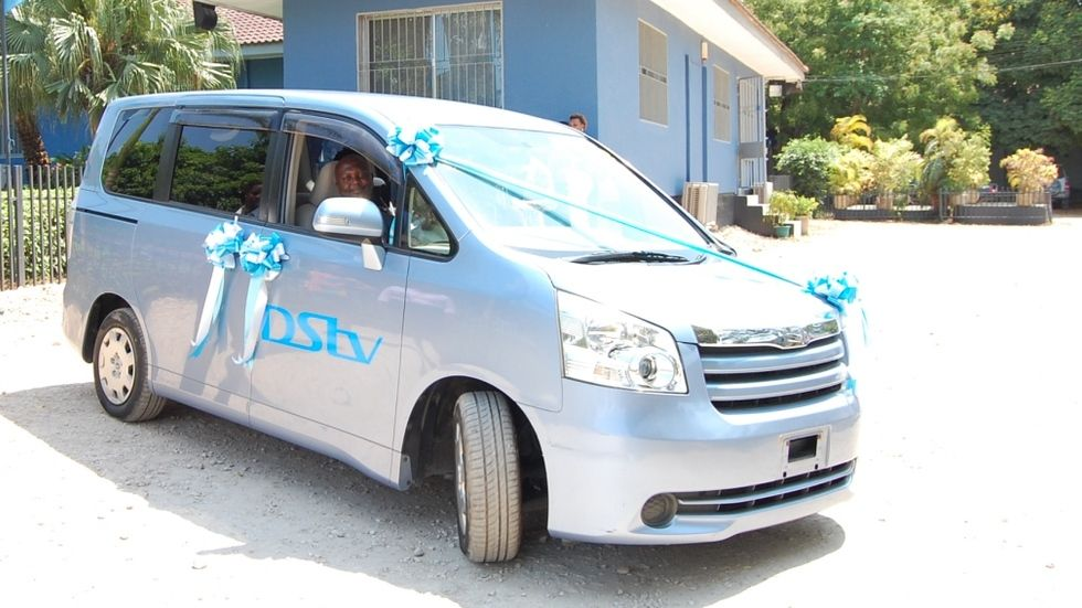Winner of the Toyota Noah Charles in Tanzania