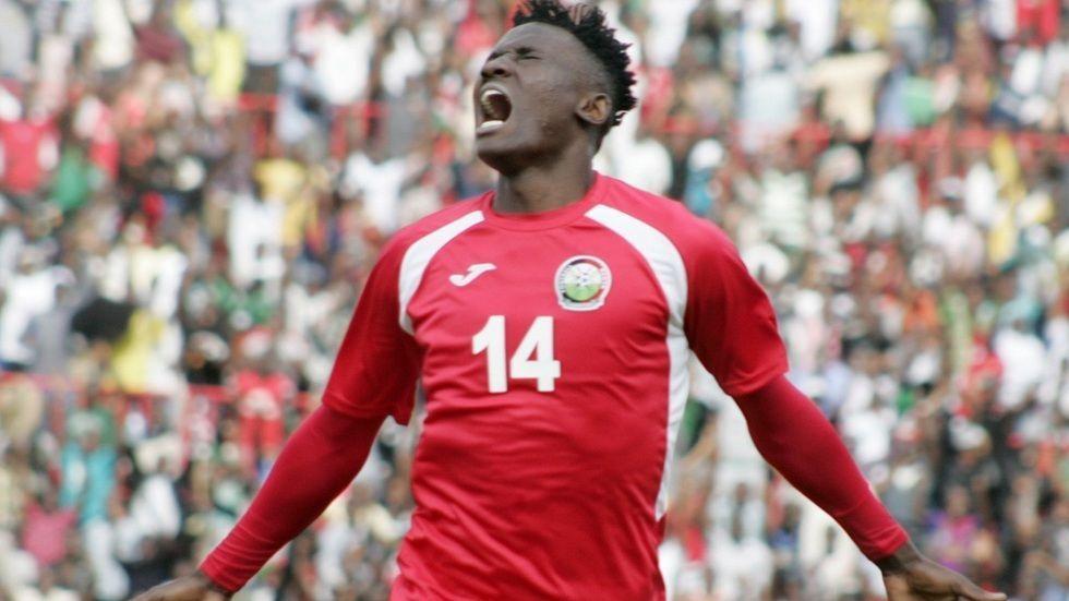 Harambee Stars striker Michael Olunga