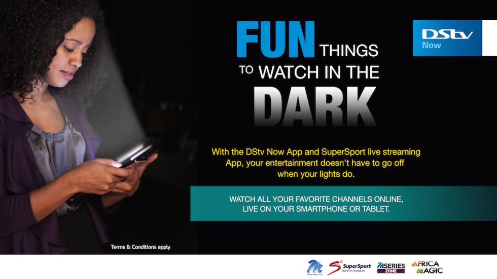 DStv Now in the dark