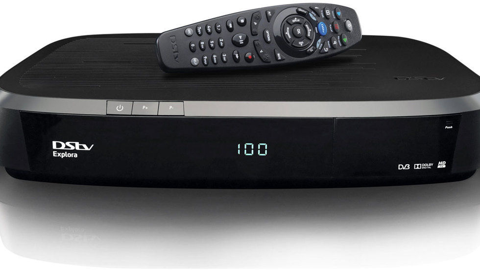 DStv Explora front on with remote.