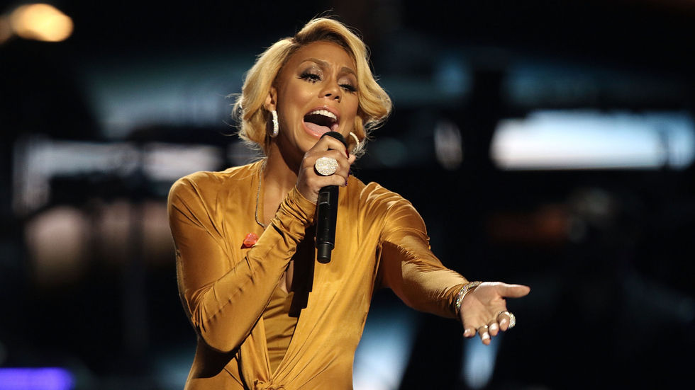 An image of Tamar Braxton at the 2015 BET Awards.