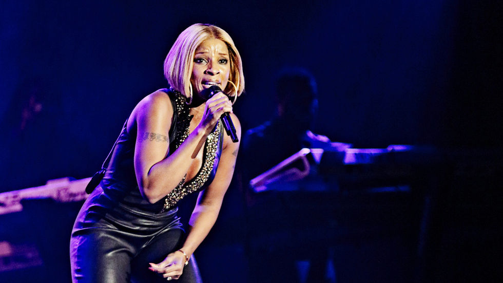 A Getty Image of Mary J Blige performing at the North Sea Jazz Festival.